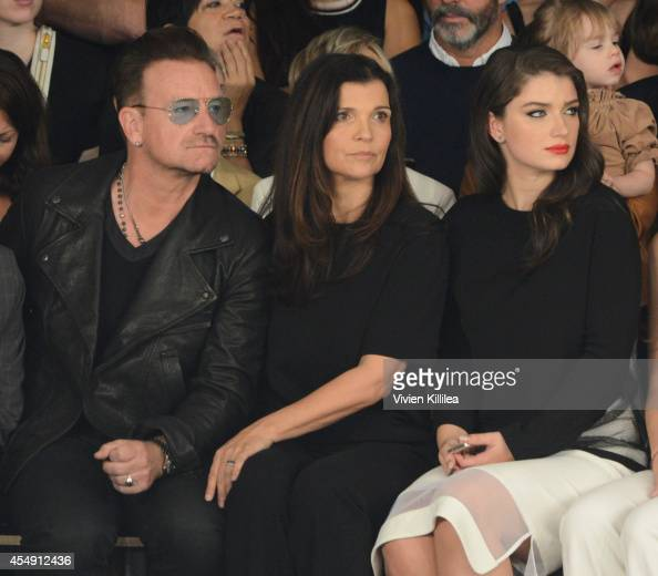 Singer Bono Ali Hewson and Eve Hewson attend the Edun fashion show during MercedesBenz Fashion Week Spring 2015 at Skylight Modern on September 7...
