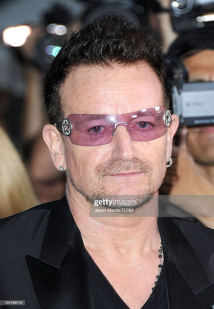 Singer <a gi-track='captionPersonalityLinkClicked' href=/galleries/search?phrase=Bono+-+Singer&family=editorial&specificpeople=167279 ng-click='$event.stopPropagation()'>Bono</a> arrives at 'From The Sky Down' Premiere at Roy Thomson Hall during the 2011 Toronto International Film Festival on September 8, 2011 in Toronto, Canada.