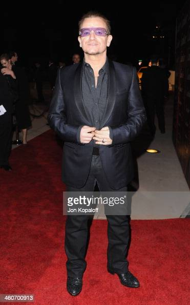 Singer Bono arrives at the 25th Annual Palm Springs International Film Festival Awards Gala at Palm Springs Convention Center on January 4 2014 in...