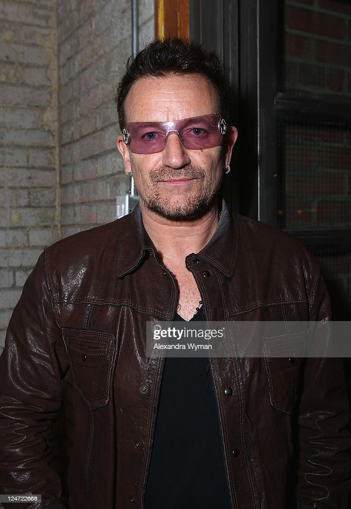 Singer Bono attends 'A Dangerous Method' party hosted by GREY GOOSE Vodka at Soho House Pop Up Club during the 2011 Toronto International Film...