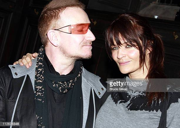 Singer Bono of U2 and Model/Photographer Helena Christensen poses at The EDUN Fall/Winter 2008 Nocturne Collection Presentation at The Desmond Tutu...