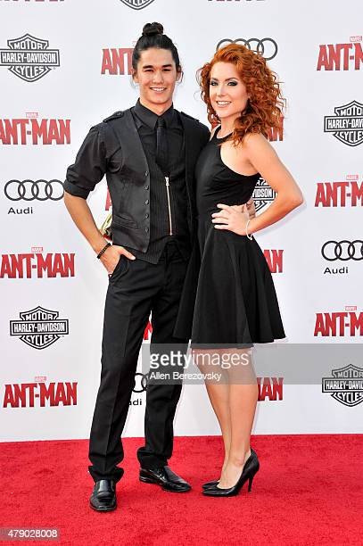 Singer Booboo Stewart and a guest arrive at the Los Angeles Premiere of Marvel Studios 'AntMan' at Dolby Theatre on June 29 2015 in Hollywood...