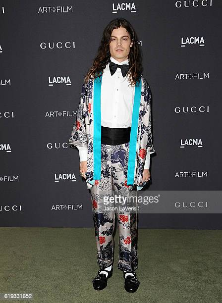 Singer Borns attends the 2016 LACMA Art Film gala at LACMA on October 29 2016 in Los Angeles California