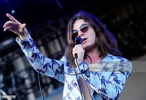 Singer BORNS performs onstage during day 1 of the 2015 Life is Beautiful festival on September 25 2015 in Las Vegas Nevada