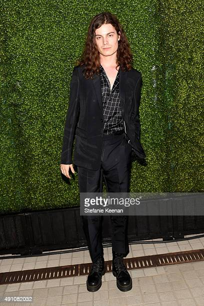 Singer BORNS wearing Emporio Armani attends Teen Vogue Celebrates the 13th Annual Young Hollywood Issue with Emporio Armani on October 2 2015 in...
