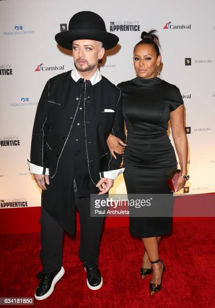 Singer Boy George and Singer / TV Personality Melanie Brown attend the red carpet event for NBC's 'Celebrity Apprentice' at Westin Bonaventure Hotel...
