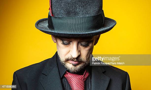 Singer Boy George is photographed for Paris Match on January 8 2014 in Paris France