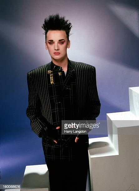 Singer Boy George poses for a portrait in 1985 in Los Angeles California