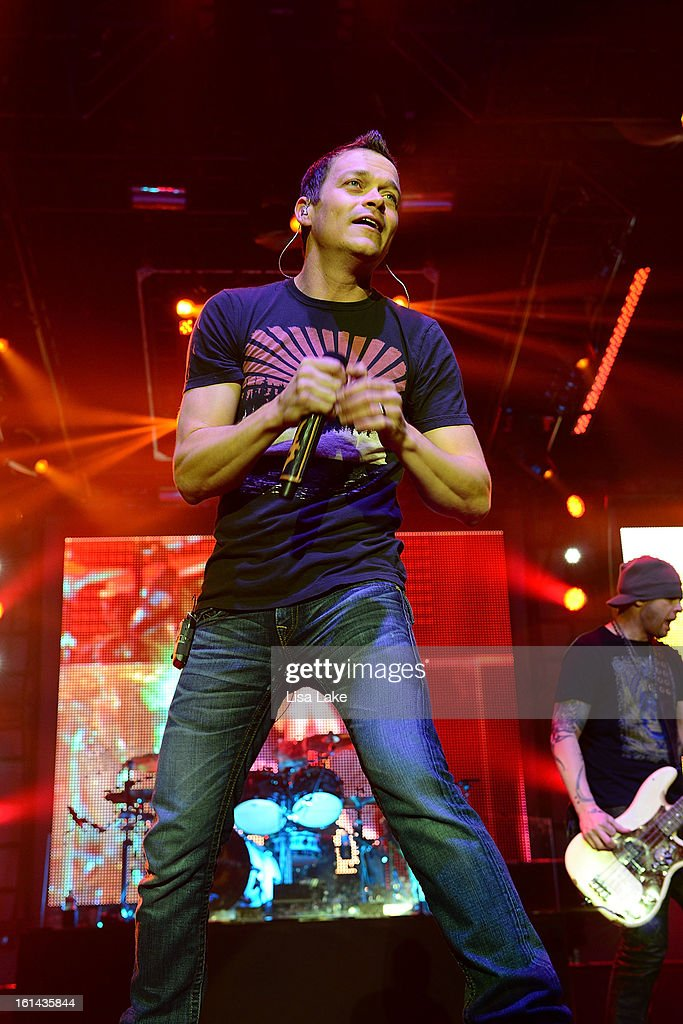 Singer <a gi-track='captionPersonalityLinkClicked' href=/galleries/search?phrase=Brad+Arnold&family=editorial&specificpeople=217763 ng-click='$event.stopPropagation()'>Brad Arnold</a> of 3 Doors Down performs in concert at Sands Event Center on February 10, 2013 in Bethlehem, Pennsylvania.