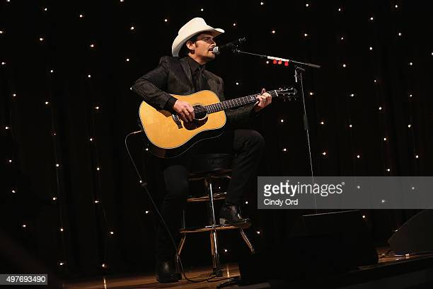 Singer Brad Paisley performs onstage at the 3rd Annual Save the Children Illumination Gala on November 17 2015 in New York City
