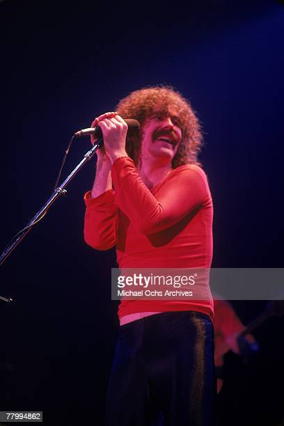 Singer Bradley Delp of the rock band 'Boston' performs onstage in March 1979
