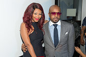 Singer Brandi Williams and executive producer Jermaine Dupri attend the private screening of Lifetime's 'The Rap Game' at Suite Food Lounge on July...