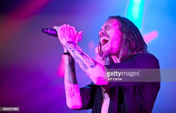 Singer Brandon Boyd of Incubus performs at PNC Music Pavilion on August 9 2015 in Charlotte North Carolina