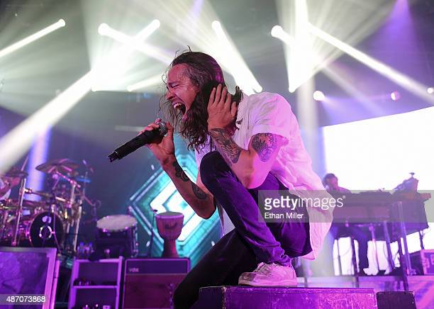 Singer Brandon Boyd of Incubus performs at The Joint inside the Hard Rock Hotel Casino on September 5 2015 in Las Vegas Nevada