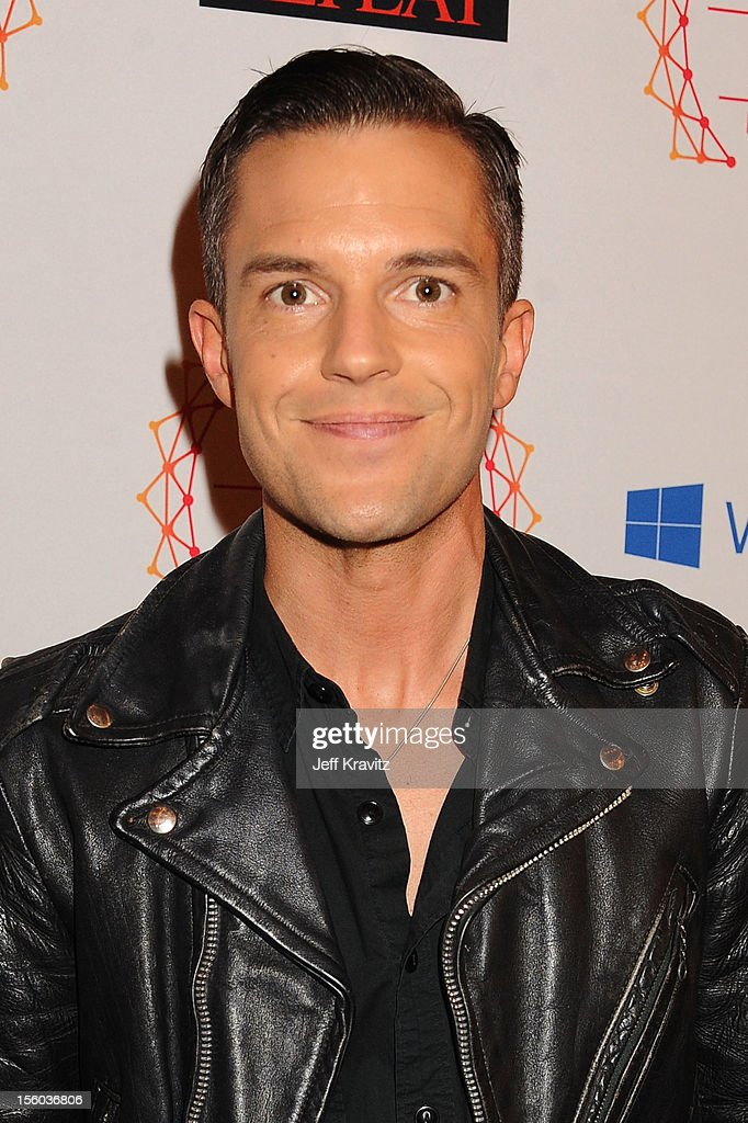 Singer Brandon Flowers of The Killers attend the MTV EMA's 2012 at Festhalle Frankfurt on November 11, 2012 in Frankfurt am Main, Germany.