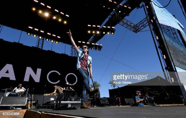 Singer Brandon Lancaster of LANco performs on the Toyota Mane Stage during day 3 of 2017 Stagecoach California's Country Music Festival at the Empire...
