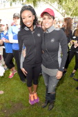 Singer Brandy and actress Halle Berry attend he 21st Annual EIF Revlon Run Walk For Women on May 10 2014 in Los Angeles California