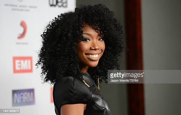 Singer Brandy arrives at the NARM Music Biz Awards dinner party held at the Hyatt Regency Century Plaza on May 10 2012 in Century City California