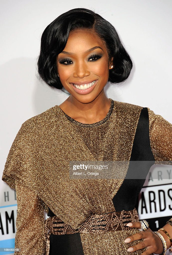 Singer Brandy arrives for the 40th Anniversary American Music Awards - Arrivals held at Nokia Theater L.A. Live on November 18, 2012 in Los Angeles, California.