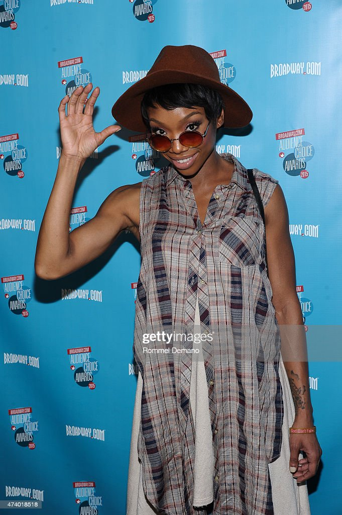 Singer Brandy attends Broadway.com Audience Choice Awards at Lounge 48 on May 19, 2015 in New York City.