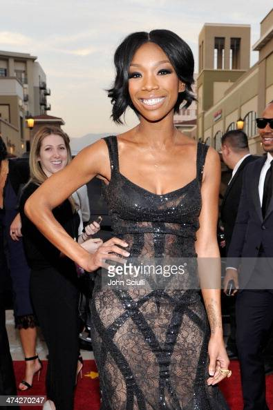 Singer Brandy attends the 45th NAACP Image Awards presented by TV One at Pasadena Civic Auditorium on February 22 2014 in Pasadena California