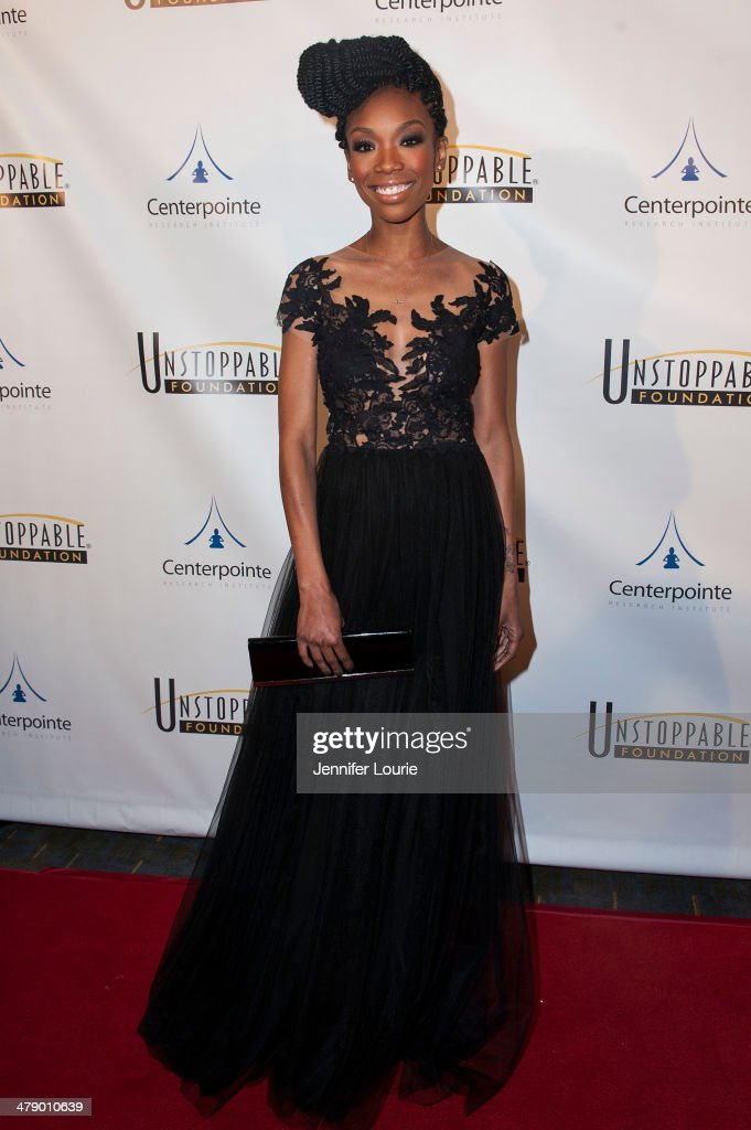 Singer Brandy attends the 5th Annual Unstoppable Gala held at the Hyatt Regency Century Plaza on March 15 2014 in Century City California