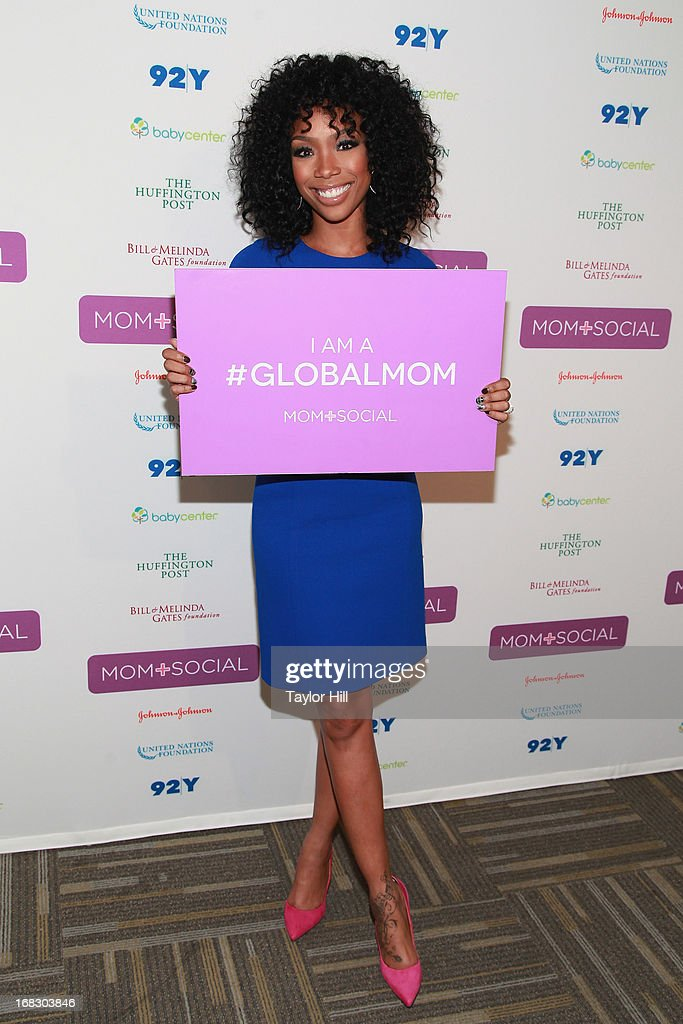 Singer Brandy attends the Mom + Social Event at the 92Y Tribeca on May 8, 2013 in New York City.