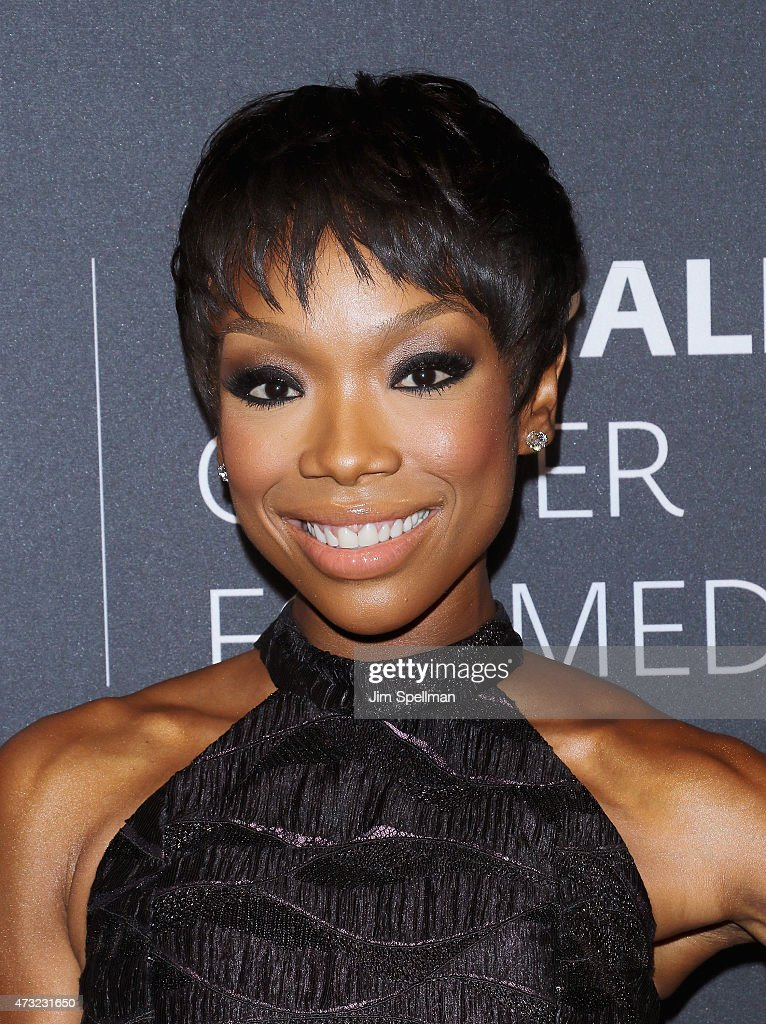 Singer Brandy attends the The Paley Center For Media hosts a tribute to AfricanAmerican achievements in television at Cipriani Wall Street on May 13...