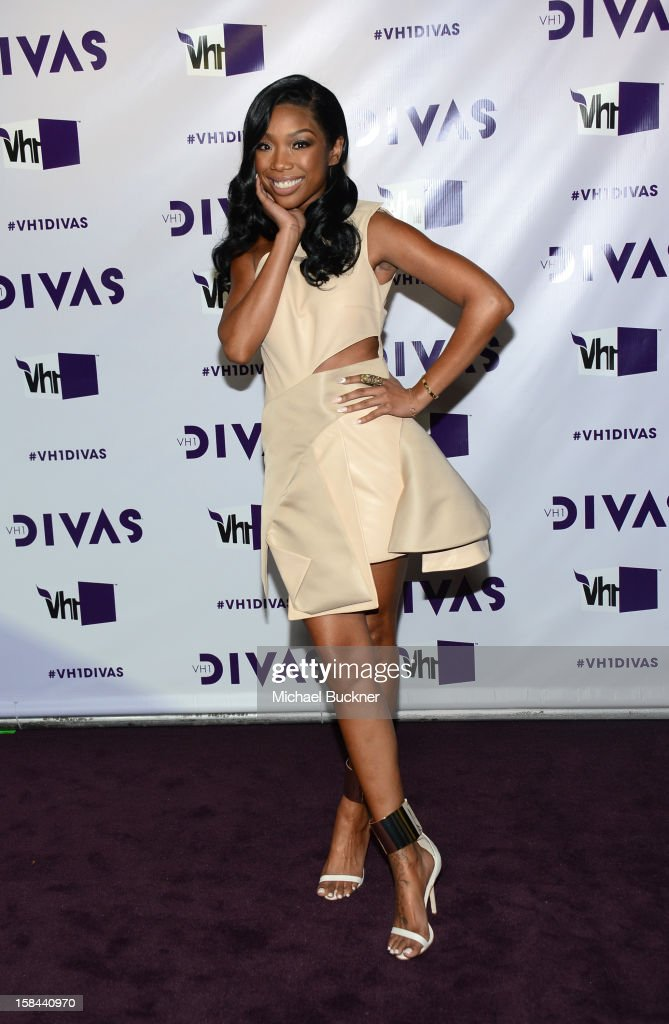 Singer Brandy attends 'VH1 Divas' 2012 at The Shrine Auditorium on December 16, 2012 in Los Angeles, California.