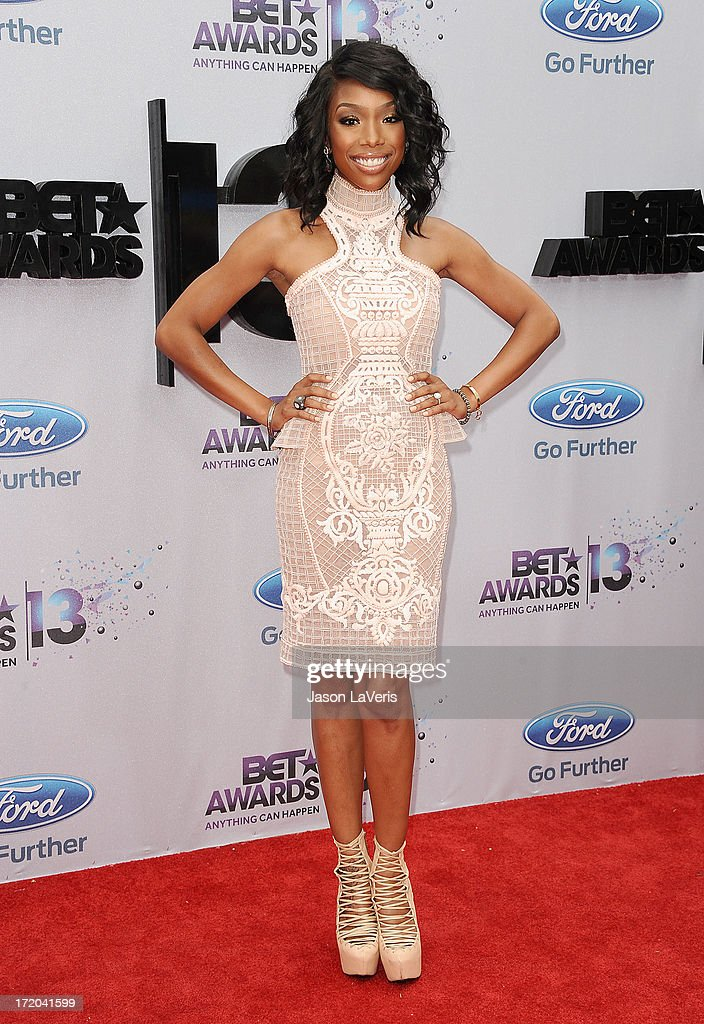 Singer Brandy Norwood attends the 2013 BET Awards at Nokia Theatre L.A. Live on June 30, 2013 in Los Angeles, California.
