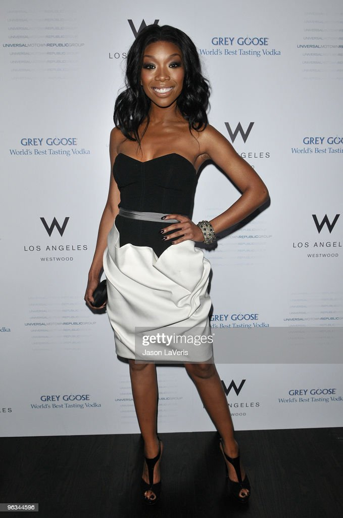 Singer Brandy Norwood attends Universal Motown Republic Group's Grammy nominee cocktail party at W Hotel on January 31 2010 in Los Angeles California