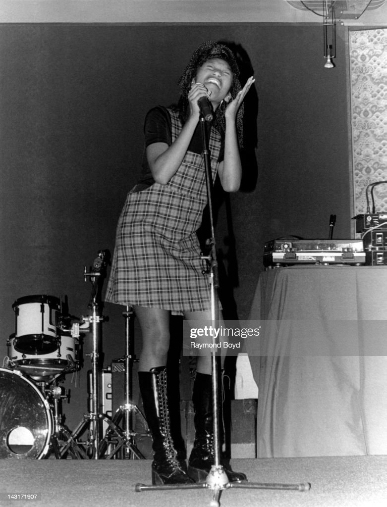 Singer Brandy performs at Club Inta's in Chicago Illinois in JANUARY 1994