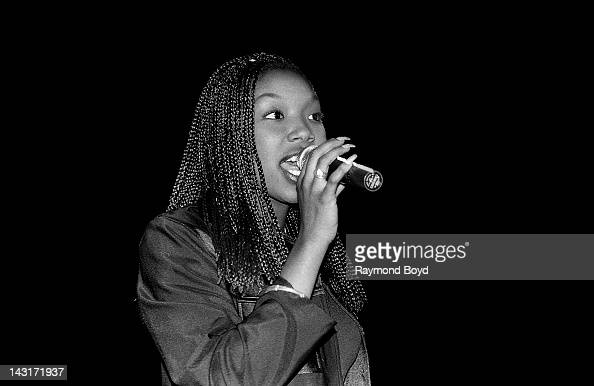 Singer Brandy performs at the Park West Theater in Chicago Illinois in JANUARY 1995