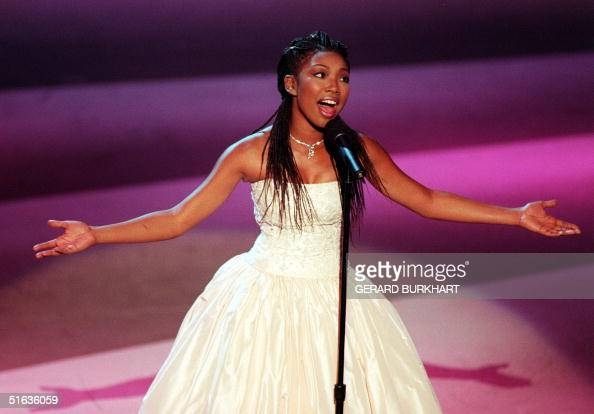 Singer Brandy performs during the 50th Annual Prime time Emmy Awards 13 September at the Shrine Auditorium in Los Angeles The Emmy Awards honor the...