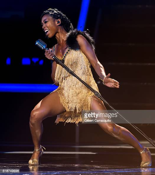 Singer Brandy performs onstage during BET Black Girls Rock 2016 at New Jersey Performing Arts Center on April 1 2016 in Newark New Jersey