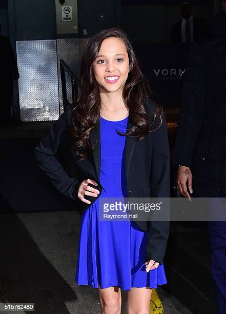 Singer Breanna Yde is seen outside 'HuffPost Live'on March 15 2016 in New York City