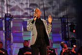 Singer Brent Jones performs during the Allstate Gospel SuperFest 2015 at House Of Hope Arena on MARCH 21 2015 in Chicago Illinois