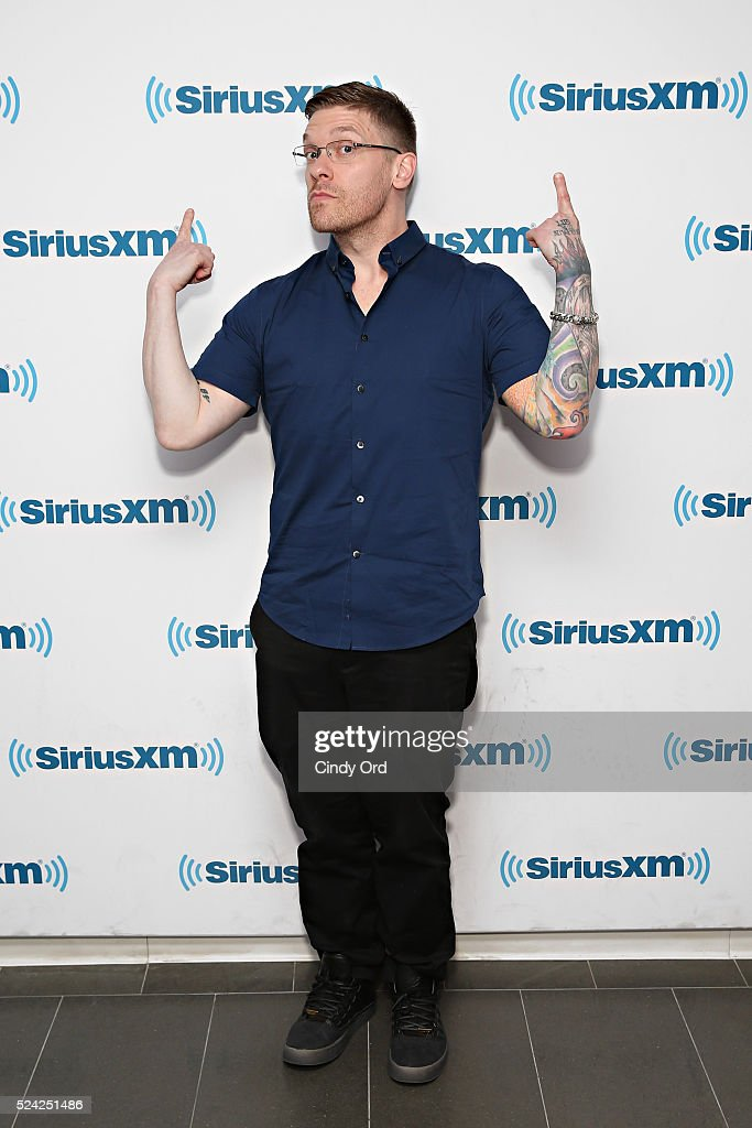 Singer Brent Smith visits the SiriusXM Studio on April 25, 2016 in New York City.