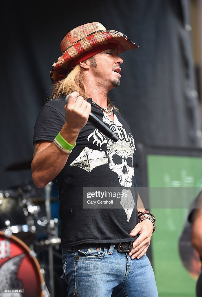 Singer Bret Michaels performs at 'FOX & Friends' All American Concert Series outside of FOX Studios on July 10, 2015 in New York City.