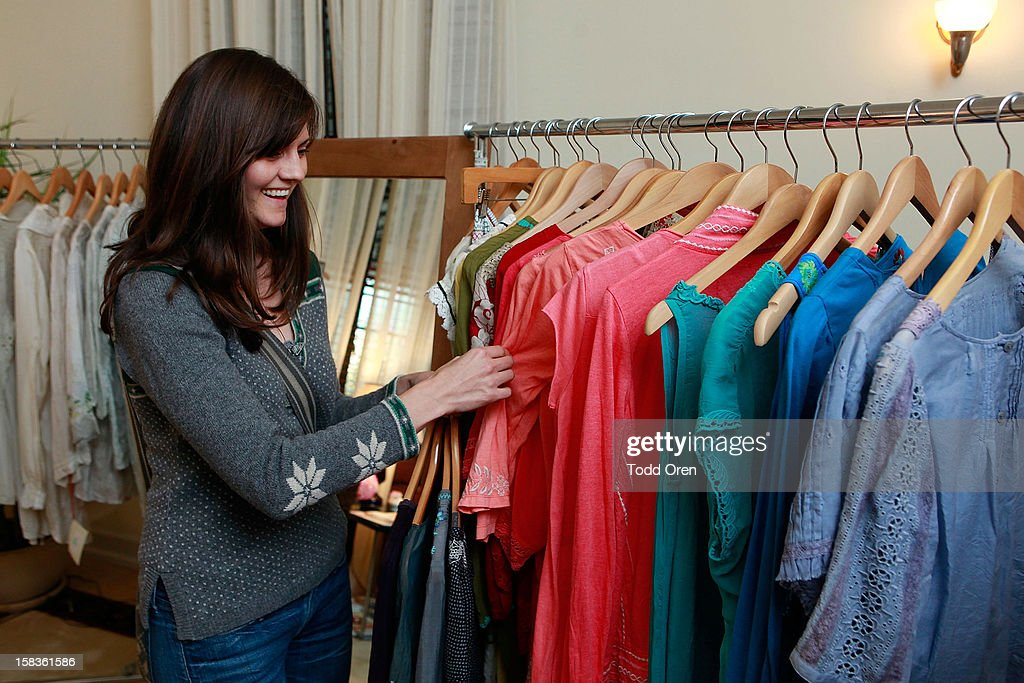 Singer Brett Anderson shops at the Johnny Was Holiday Gifting Suite at Chateau Marmont on December 13, 2012 in Los Angeles, California.