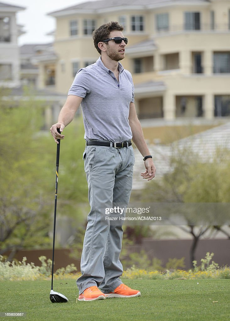 Singer <a gi-track='captionPersonalityLinkClicked' href=/galleries/search?phrase=Brett+Eldredge&family=editorial&specificpeople=7334271 ng-click='$event.stopPropagation()'>Brett Eldredge</a> attends the ACM Lifting Lives Celebrity Golf Classic during the 48th Annual Academy of Country Music Awards at TPC Summerlin on April 6, 2013 in Las Vegas, Nevada.