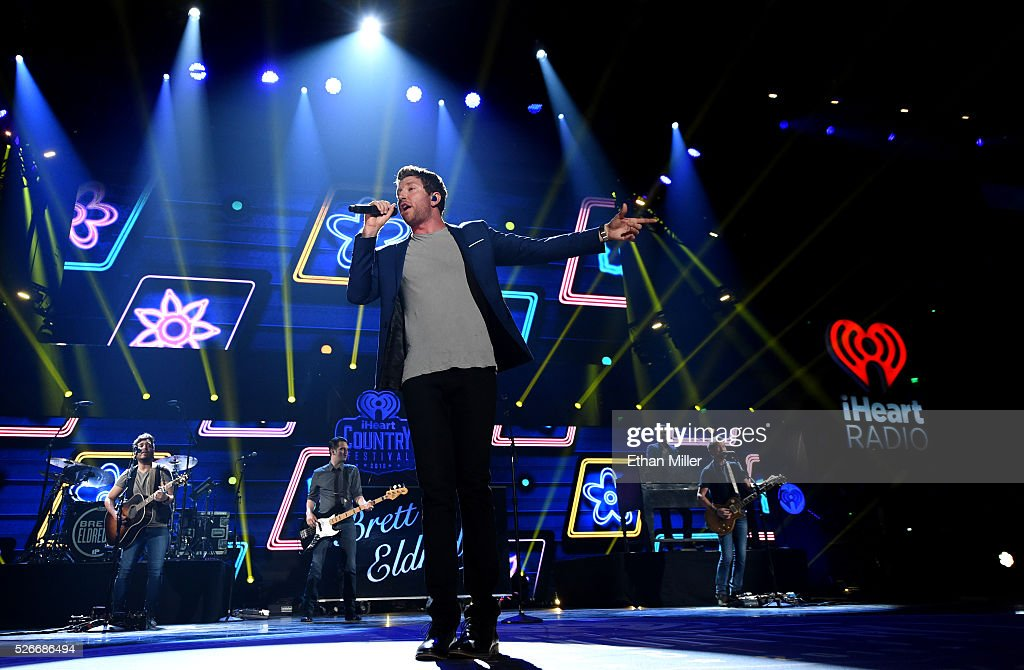 Singer <a gi-track='captionPersonalityLinkClicked' href=/galleries/search?phrase=Brett+Eldredge&family=editorial&specificpeople=7334271 ng-click='$event.stopPropagation()'>Brett Eldredge</a> performs onstage during the 2016 iHeartCountry Festival at The Frank Erwin Center on April 30, 2016 in Austin, Texas.