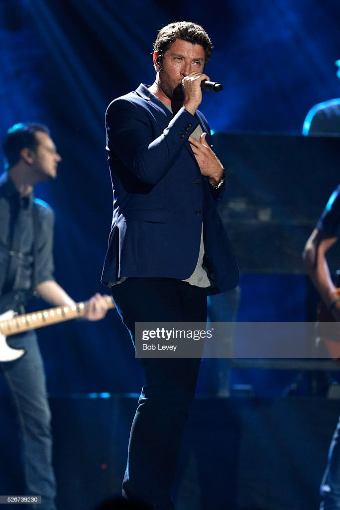 Singer Brett Eldredge performs onstage during the 2016 iHeartCountry Festival at The Frank Erwin Center on April 30, 2016 in Austin, Texas.