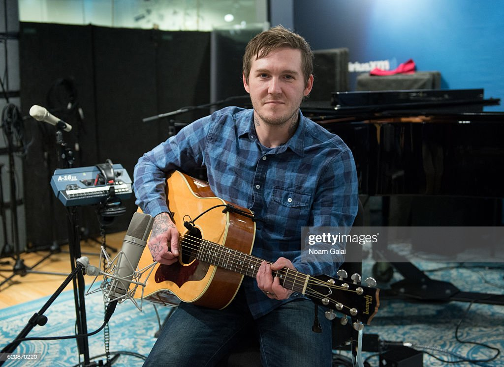 Singer Brian Fallon visits the SiriusXM Studio on November 3, 2016 in New York City.
