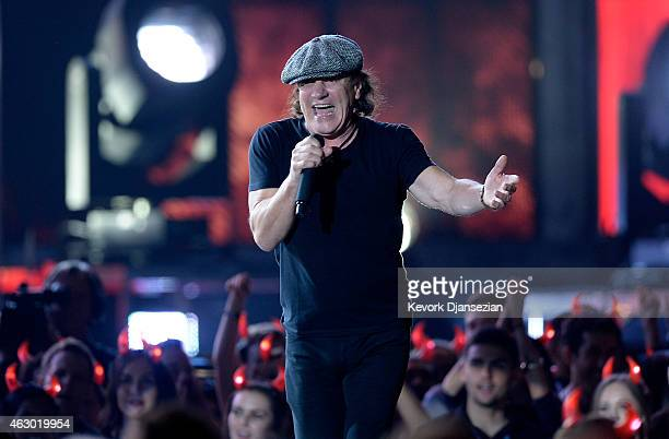 Singer Brian Johnson of AC/DC performs onstage during The 57th Annual GRAMMY Awards at the at the STAPLES Center on February 8 2015 in Los Angeles...