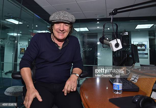 Singer Brian Johnson of the band AC/DC attends the SiriusXM's 'Town Hall' With AC/DC's Angus Young And Brian Johnson on November 17 2014 in New York...