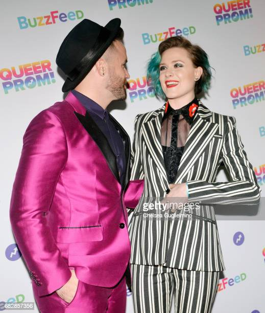 Singer Brian Justin Crumb and actress Evan Rachel Wood attend Buzzfeed hosts the 1st Inaugural Queer Prom for LGBT Youth in Los Angeles at Siren...