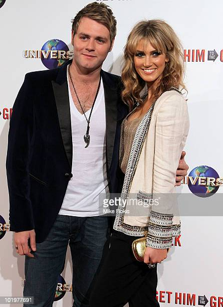 Singer Brian McFadden and Delta Goodrem arrive at the premiere of 'Get Him To The Greek' at Event Cinemas George Street on June 11 2010 in Sydney...