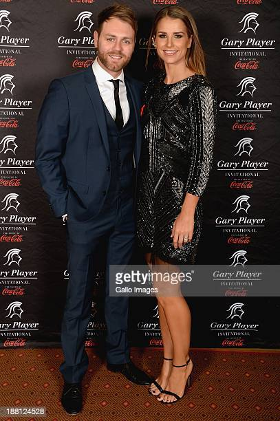 Singer Brian McFadden and his wife Vogue Williams attend the the Gala Dinner and Charitable Auction of the Gary Player Invitational presented by...