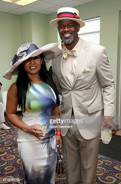 Singer Brian McKnight attends the 141st Kentucky Derby at Churchill Downs on May 2 2015 in Louisville Kentucky
